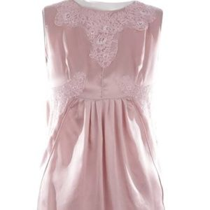 Dolce & Gabbana Pink Silk Top with Lace Accents